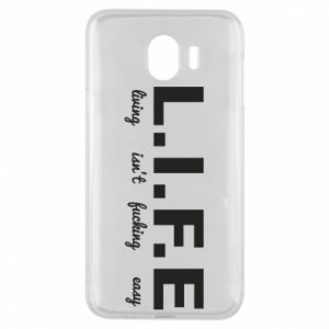 Phone case for Samsung J4 L.I.F.E