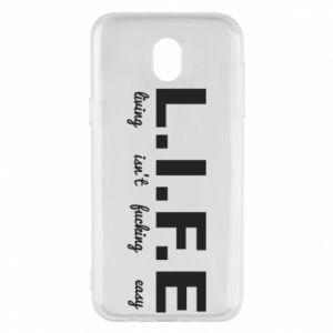 Phone case for Samsung J5 2017 L.I.F.E