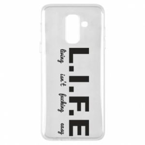 Phone case for Samsung A6+ 2018 L.I.F.E