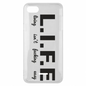 Phone case for Xiaomi Redmi 6A L.I.F.E