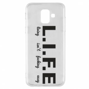 Phone case for Samsung A6 2018 L.I.F.E