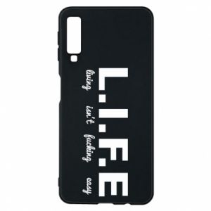 Phone case for Samsung A7 2018 L.I.F.E