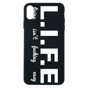 Phone case for iPhone Xs Max L.I.F.E