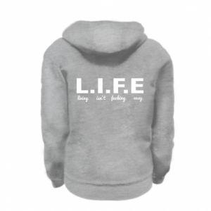 Kid's zipped hoodie % print% L.I.F.E