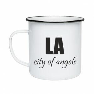 Enameled mug LA city of angels - PrintSalon