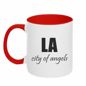 Two-toned mug LA city of angels