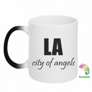 Chameleon mugs LA city of angels