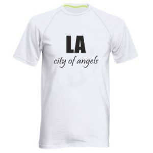 Men's sports t-shirt LA city of angels