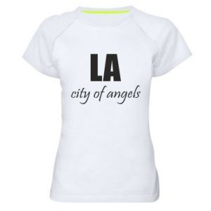 Women's sports t-shirt LA city of angels