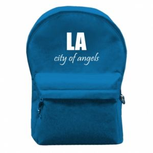 Backpack with front pocket LA city of angels - PrintSalon