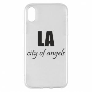 Phone case for iPhone X/Xs LA city of angels - PrintSalon