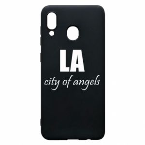 Phone case for Samsung A30 LA city of angels - PrintSalon