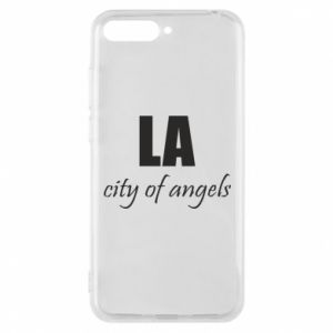 Phone case for Huawei Y6 2018 LA city of angels - PrintSalon