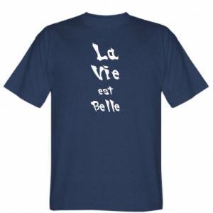 Koszulka męska La vie est belle