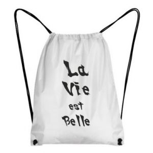 Backpack-bag La vie est belle