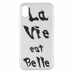 iPhone X/Xs Case La vie est belle