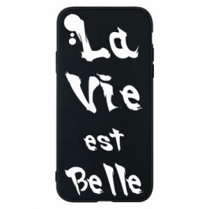 iPhone XR Case La vie est belle