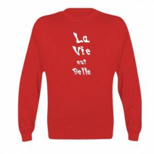 Bluza dziecięca La vie est belle