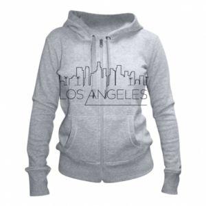 Damska bluza na zamek LA - PrintSalon