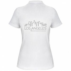 Damska koszulka polo LA - PrintSalon