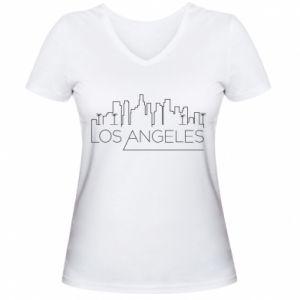 Damska koszulka V-neck LA - PrintSalon