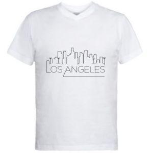 Męska koszulka V-neck LA - PrintSalon