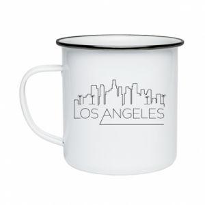 Kubek emaliowane LA - PrintSalon