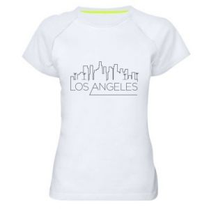 Damska koszulka sportowa LA - PrintSalon