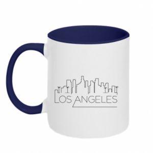 Kubek dwukolorowy LA - PrintSalon