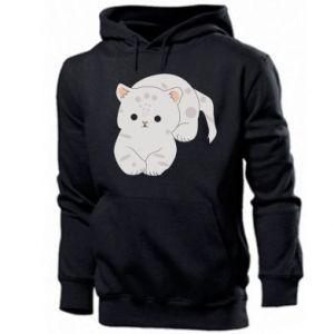 Bluza z kapturem męska Łaciaty kot