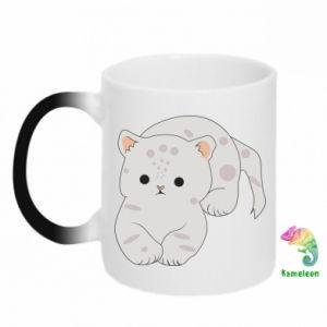 Kubek-magiczny Łaciaty kot