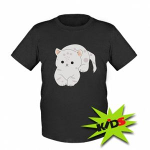 Koszulka dziecięca Łaciaty kot