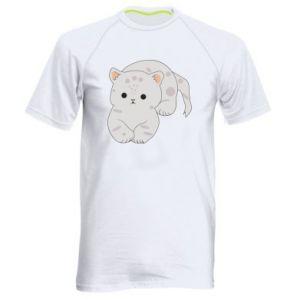Koszulka sportowa męska Łaciaty kot
