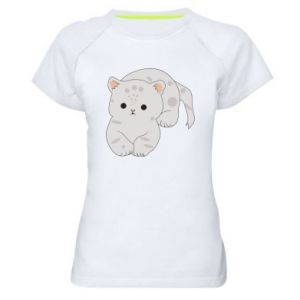 Koszulka sportowa damska Łaciaty kot