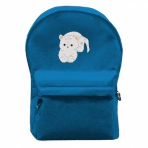 Plecak z przednią kieszenią Łaciaty kot