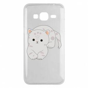 Etui na Samsung J3 2016 Łaciaty kot