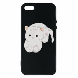 Etui na iPhone 5/5S/SE Łaciaty kot