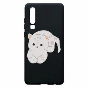 Etui na Huawei P30 Łaciaty kot