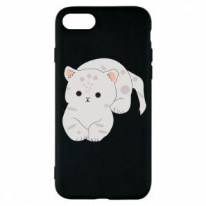 Etui na iPhone 7 Łaciaty kot