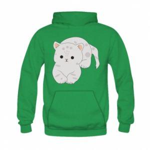 Bluza z kapturem dziecięca Łaciaty kot