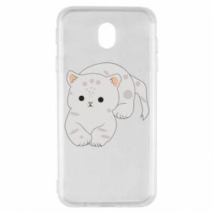 Etui na Samsung J7 2017 Łaciaty kot