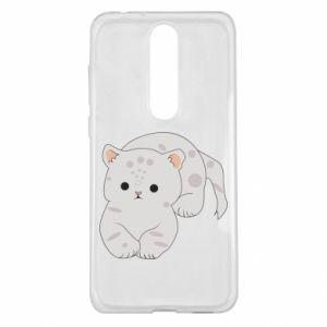 Etui na Nokia 5.1 Plus Łaciaty kot
