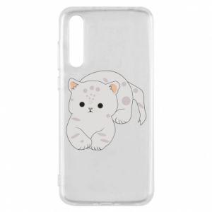 Etui na Huawei P20 Pro Łaciaty kot