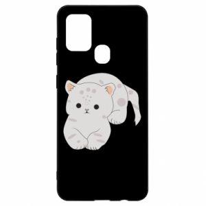 Etui na Samsung A21s Łaciaty kot