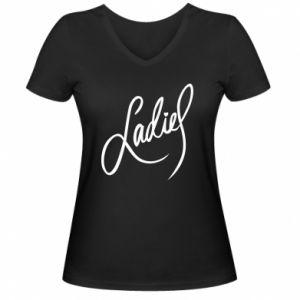 Damska koszulka V-neck Ladies