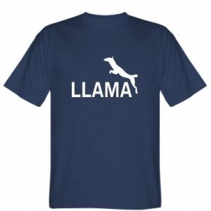 T-shirt Lama is jumping