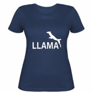 Women's t-shirt Lama is jumping