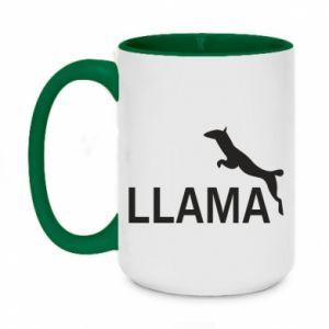 Kubek dwukolorowy 450ml Lama is jumping