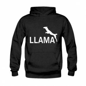 Bluza z kapturem dziecięca Lama is jumping