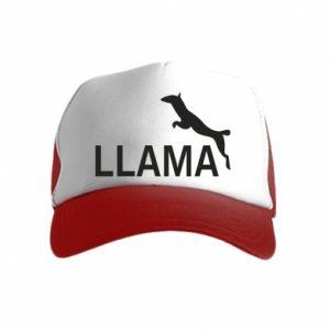 Czapka trucker dziecięca Lama is jumping